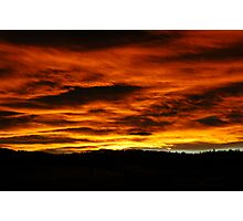 Sunset In The Rockies Photographic Print