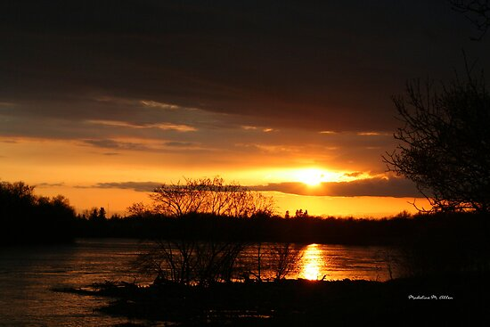 Flooding Sunset --- Beauty & Terror by Madeline M  Allen