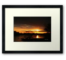 Flooding Sunset --- Beauty & Terror Framed Print