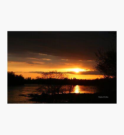 Flooding Sunset --- Beauty & Terror Photographic Print