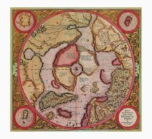 North Pole Map 1595 One Piece - Short Sleeve