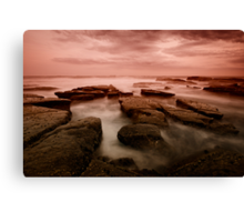 Bar Beach Rock Platform 6 Canvas Print