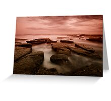 Bar Beach Rock Platform 6 Greeting Card