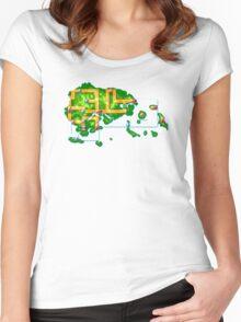 Hoenn map Women's Fitted Scoop T-Shirt