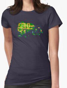 Hoenn map Womens Fitted T-Shirt
