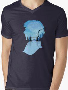 Sherlock's London Mens V-Neck T-Shirt
