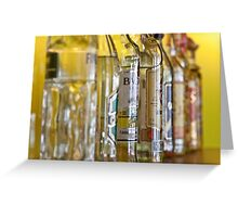 Alcohol Bottles Greeting Card
