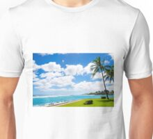 Coconut Palm tree on the beach in Hawaii, Kauai Unisex T-Shirt