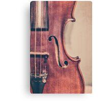 Vintage Violin Portrait Canvas Print
