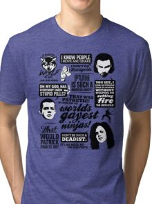 Being Human Quotes Tri-blend T-Shirt