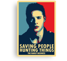 Saving People, Hunting Things Canvas Print