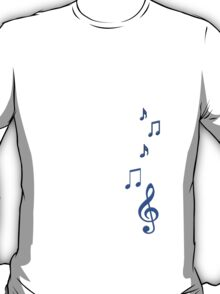 Blue Musical Notes T-Shirt