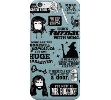 Hobbit Quotes iPhone Case/Skin