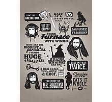 Hobbit Quotes Photographic Print