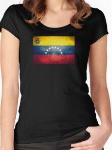 Venezuela - Vintage Women's Fitted Scoop T-Shirt