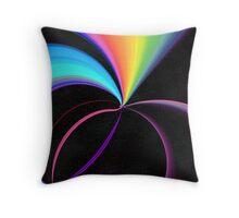 Rainbow Vortex Throw Pillow