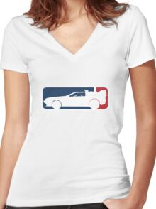 Delorean Women's Fitted V-Neck T-Shirt