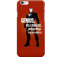 Genius, Billionaire, Playboy, Philanthropist.  iPhone Case/Skin