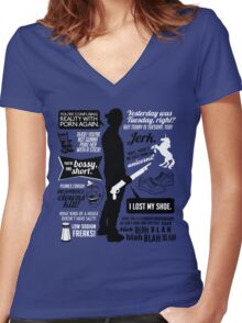 Sam Winchester Quotes Women's Fitted V-Neck T-Shirt
