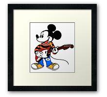 Rock Star Mickey Framed Print