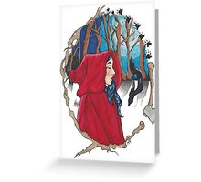 Red Riding Greeting Card
