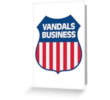 Vandals Business Greeting Card