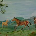 Rounding up the mares by Debra Lohrere