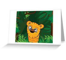 Tiger Peeking Greeting Card