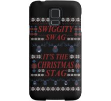 SWIGGITY SWAG, IT'S THE NIGHTMARE STAG! - Hannibal ugly christmas sweater Samsung Galaxy Case/Skin