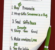 Holiday to do list by my-sanity