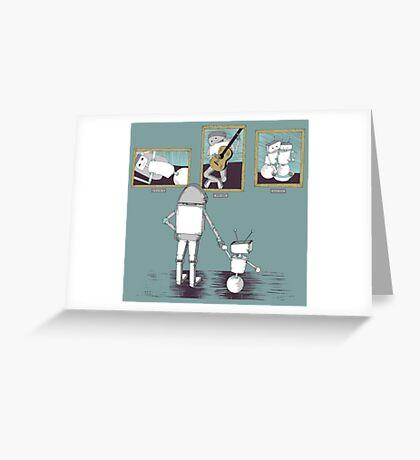 Robots like art too. Greeting Card