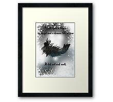 Once upon a time an angel and a demon fell in love Framed Print