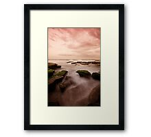 Bar Beach Rock Platform 7 Framed Print