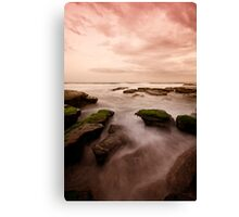 Bar Beach Rock Platform 7 Canvas Print