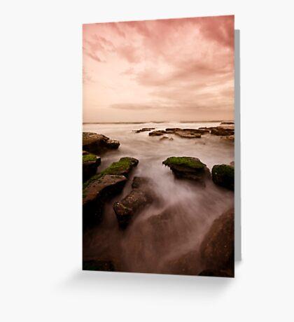 Bar Beach Rock Platform 7 Greeting Card
