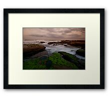 Bar Beach Rock Platform 8 Framed Print