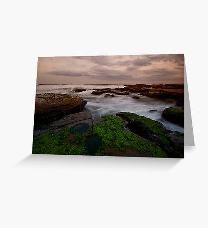 Bar Beach Rock Platform 8 Greeting Card