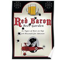 Red Baron Beer Garden Poster