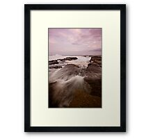 Bar Beach Rock Platform 9 Framed Print