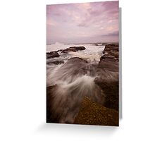 Bar Beach Rock Platform 9 Greeting Card