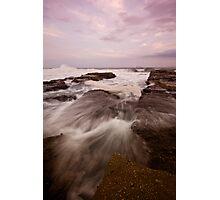 Bar Beach Rock Platform 9 Photographic Print