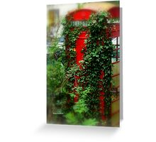 Overgrown Phonebox Greeting Card