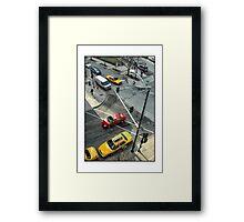 Delaware & Rush Crosswalk Framed Print