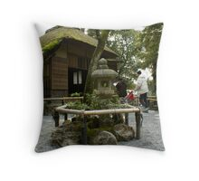 Japan - Golden Temple - Outside the Tearoom Throw Pillow