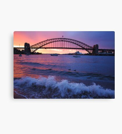 Morning Wake - Sydney Harbour, Sydney Australia Canvas Print