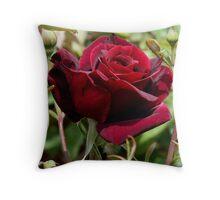 photoj Red Bloom Flora Throw Pillow