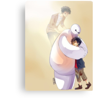 Big Hero 6 Baymax Hugging Hiro With Tadashi Canvas Print