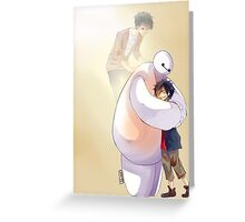 Big Hero 6 Baymax Hugging Hiro With Tadashi Greeting Card