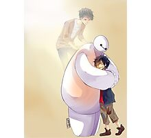 Big Hero 6 Baymax Hugging Hiro With Tadashi Photographic Print