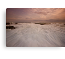 Bar Beach Rock Platform 10 Canvas Print